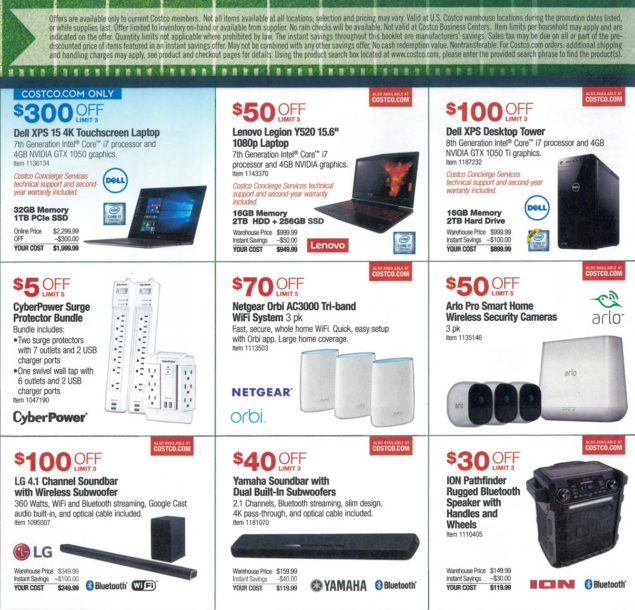 Costco Super Bowl TV Deals 2018 Page 3