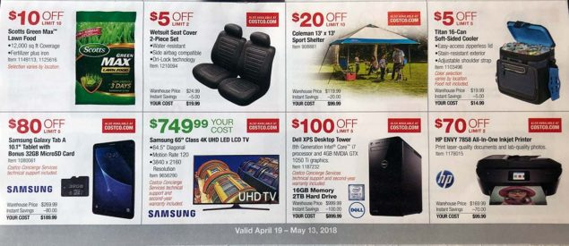 April 2018 Costco Coupon Book Page 10