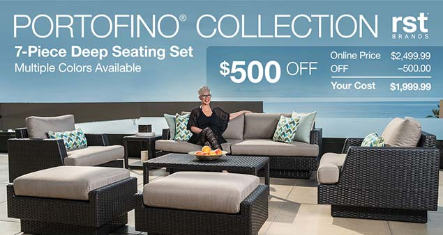 Portofino Collection 7 Piece Deep Seating Set