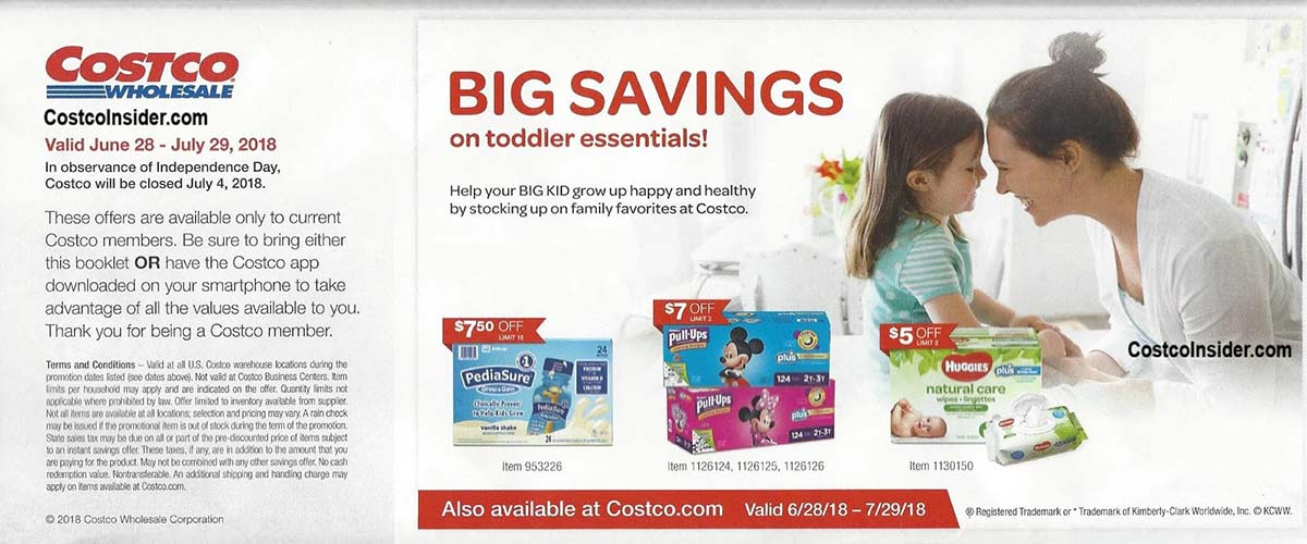 Costco Coupons July 2018 Page 1