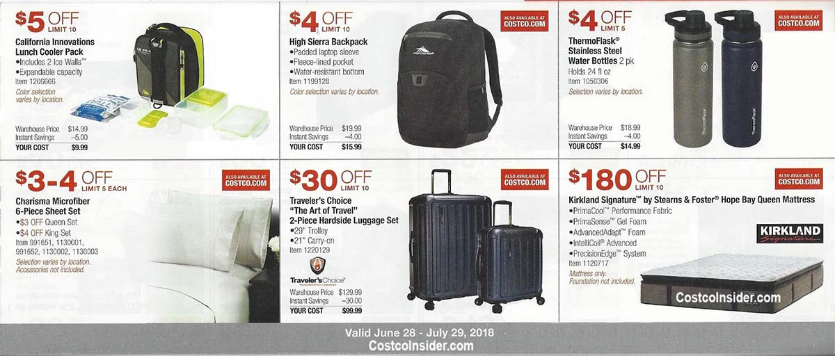 Costco Coupons July 2018 Page 8