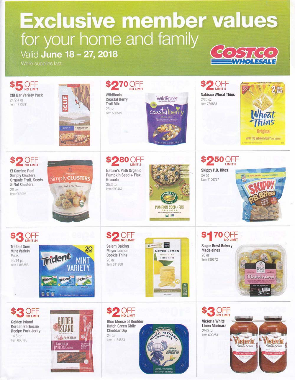 June 2018 Warehouse Only Offers Page 1