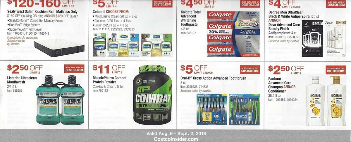 Costco August 2018 Coupon Book Page 13
