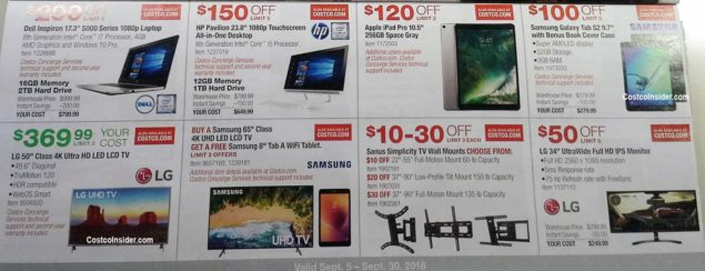 Costco September 2018 Coupon Book Page 13