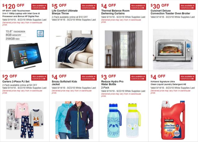September 2018 Costco Hot Buys Coupons Page 1