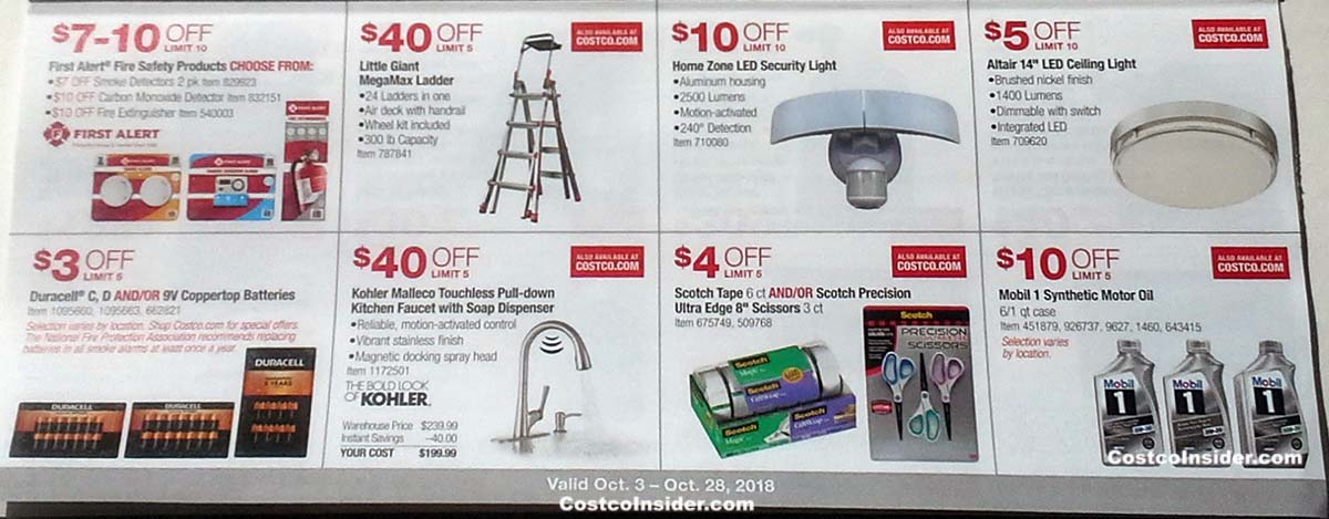 Costco October 2018 Coupon Book Page 8