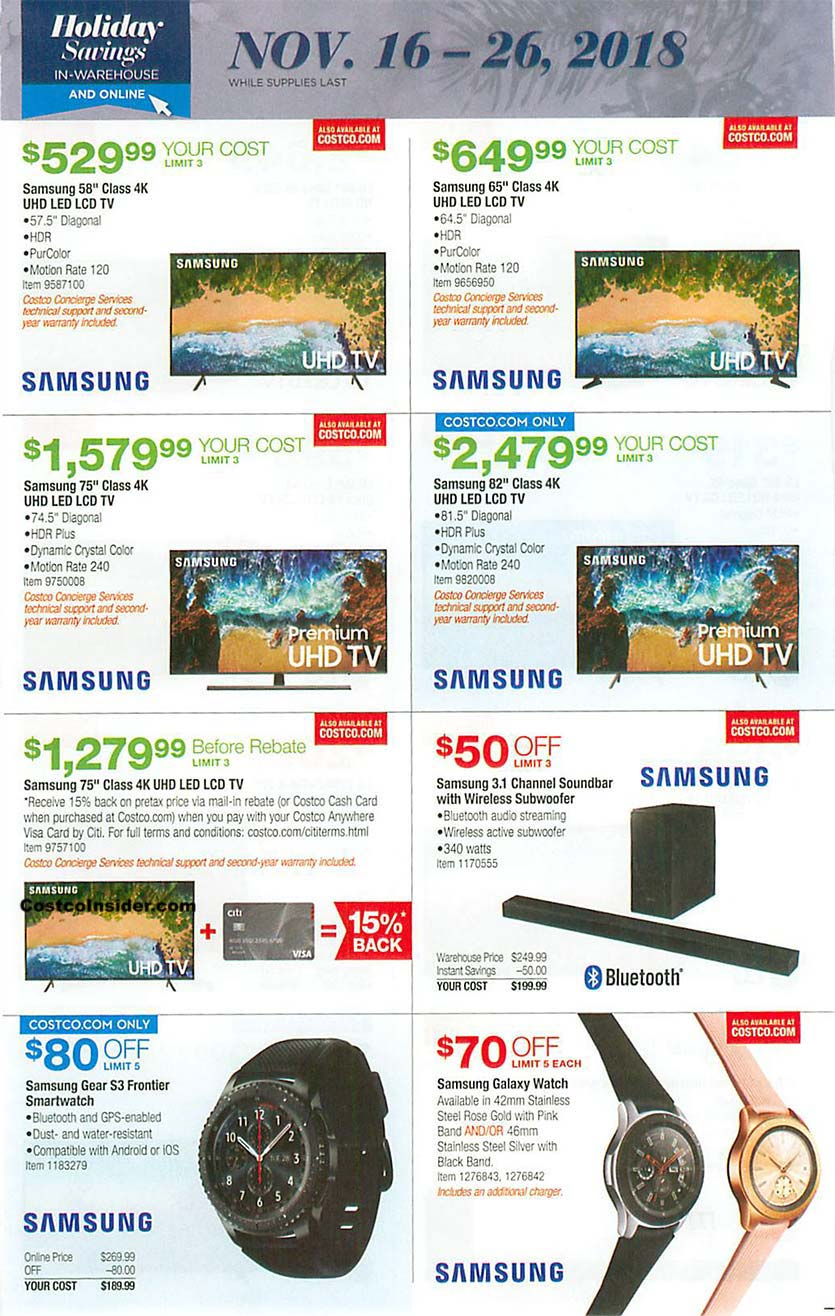 Costco Black Friday 2018 Ad Page 14