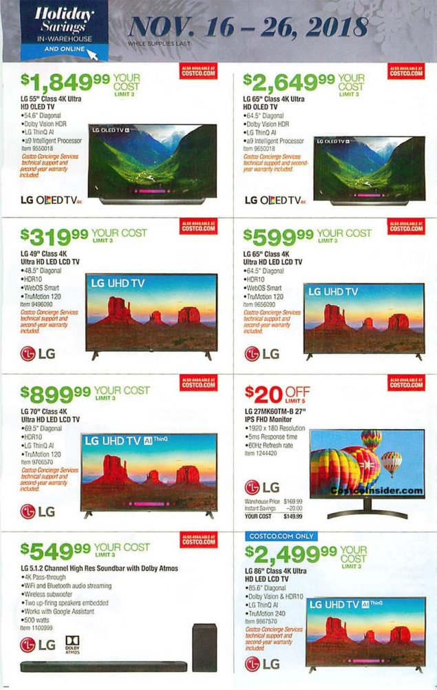 Costco Black Friday 2018 Ad Page 15