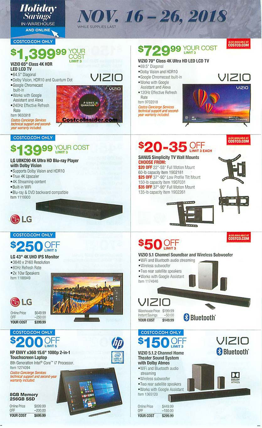 Costco Black Friday 2018 Ad Page 16