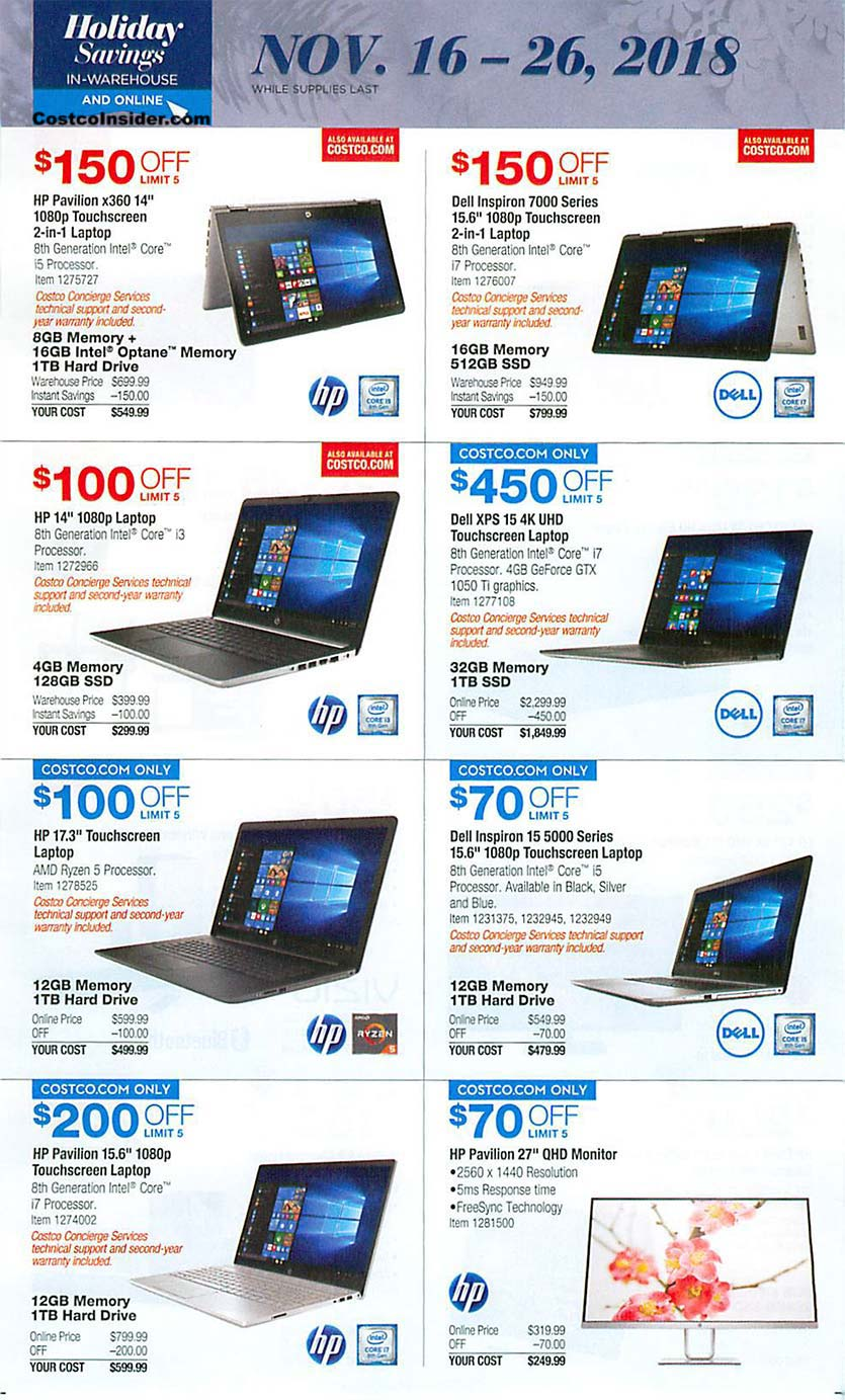 Costco Black Friday 2018 Ad Page 17