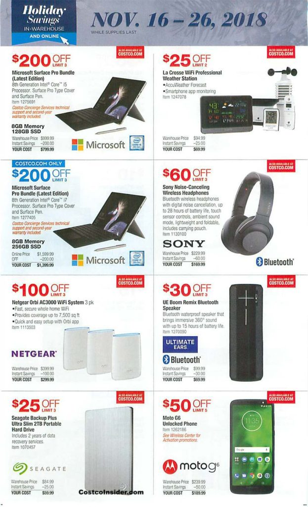 Costco Black Friday 2018 Ad Page 18