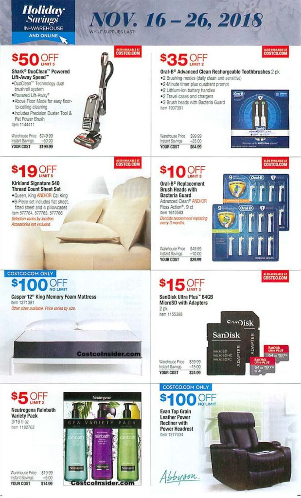 Costco Black Friday 2018 Ad Page 19