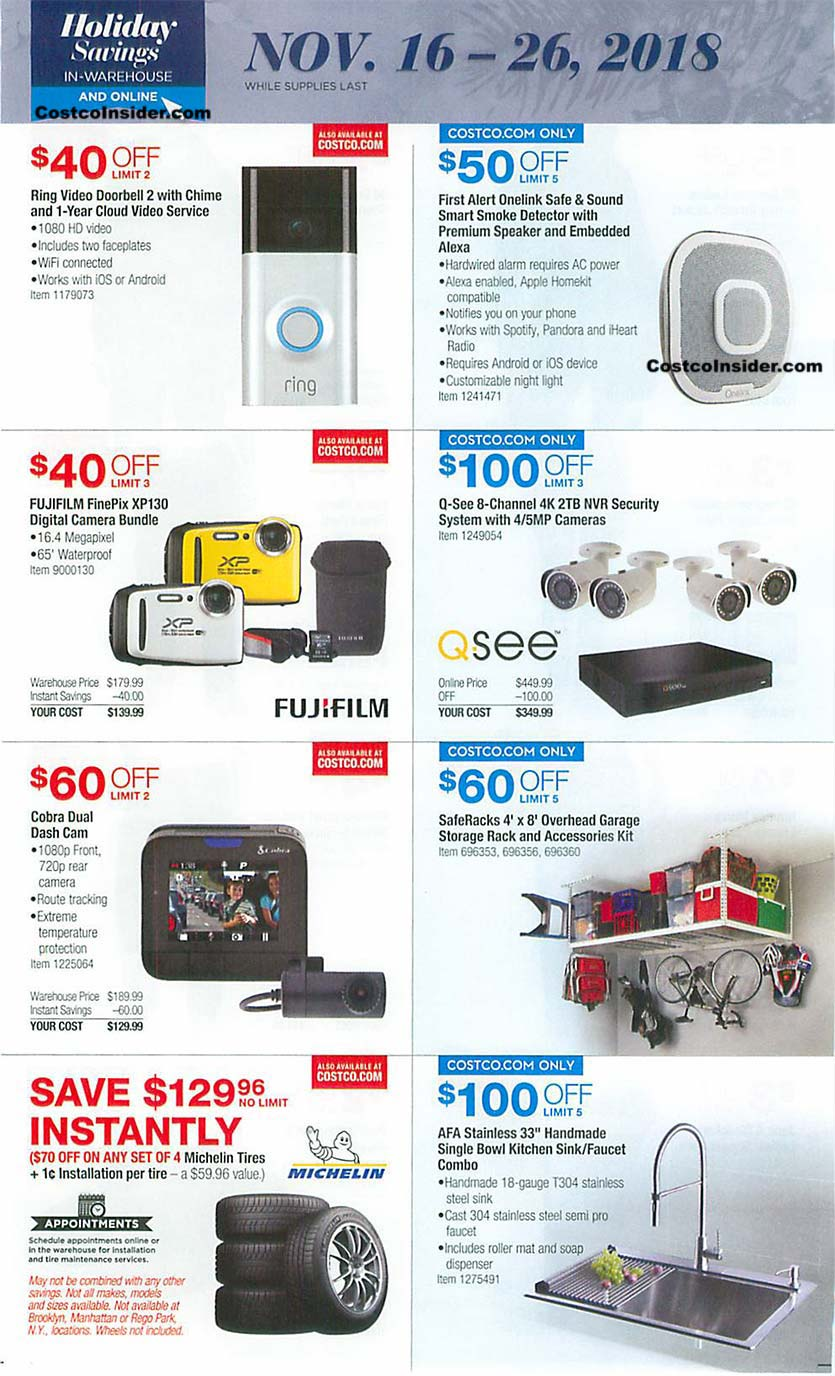 Costco Black Friday 2018 Ad Page 20