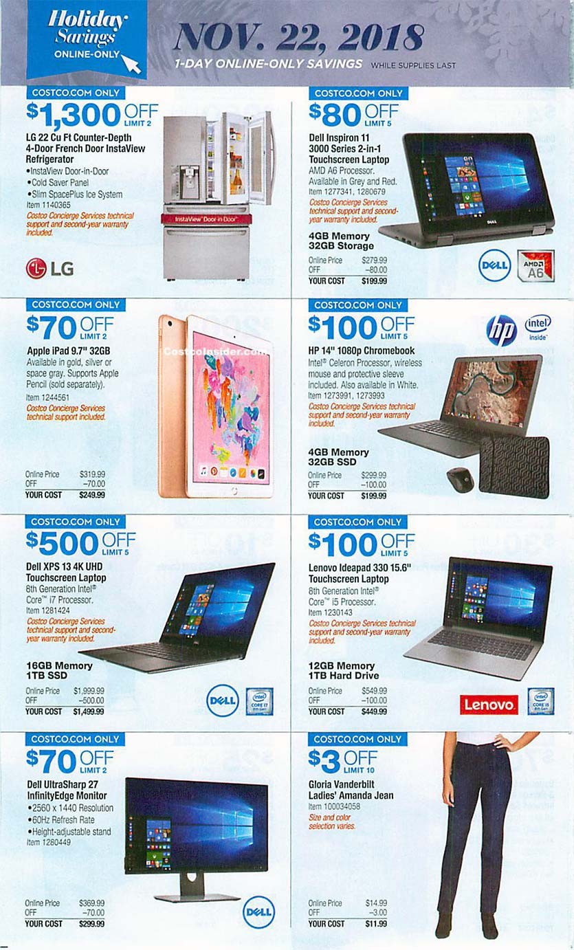 Costco Black Friday 2018 Ad Page 23