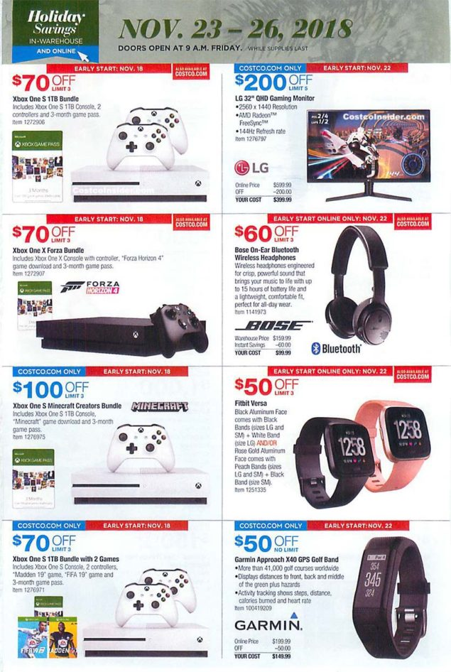 Costco Black Friday 2018 Ad Page 26