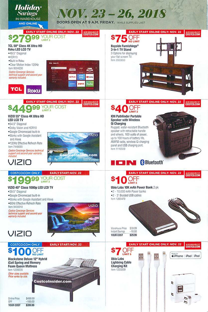 Costco Black Friday 2018 Ad Page 27