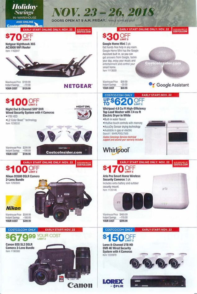 Costco Black Friday 2018 Ad Page 28