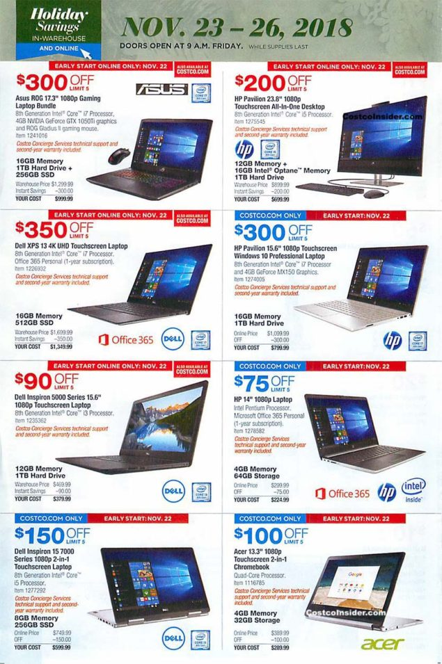 Costco Black Friday 2018 Ad Page 29
