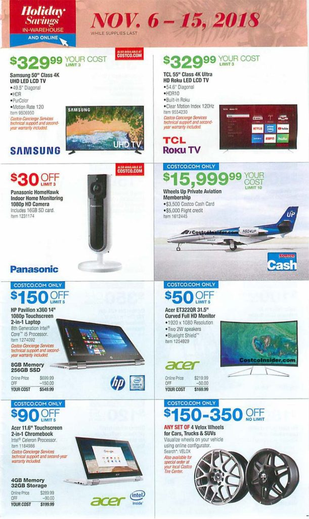 Costco Black Friday 2018 Ad Page 8