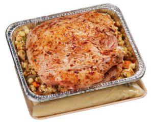 Seasoned Turkey Breast with Stuffing & Gravy