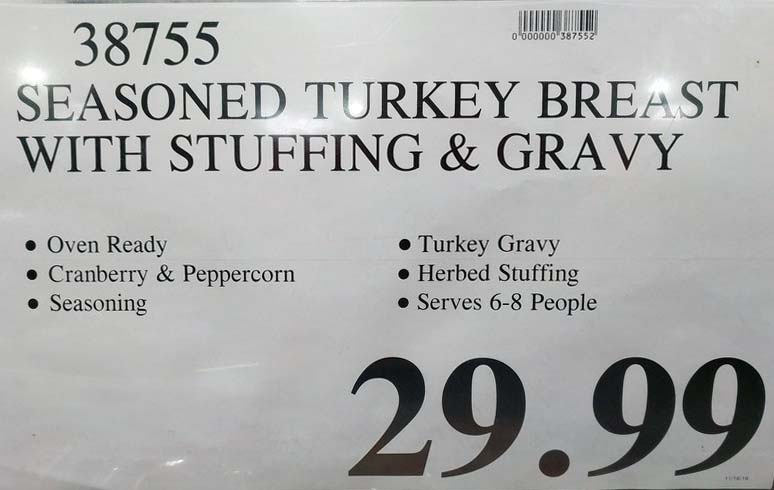 Seasoned Turkey Breast with Stuffing Price Tag