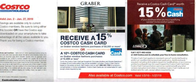 January 2019 Costco Coupon Book Page 1