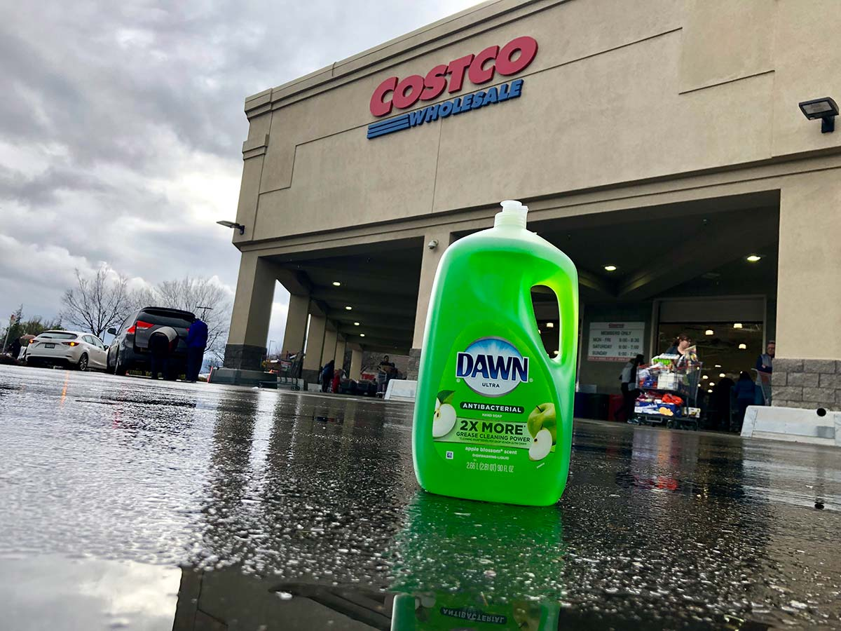 Dawn Dish Soap Parking Lot