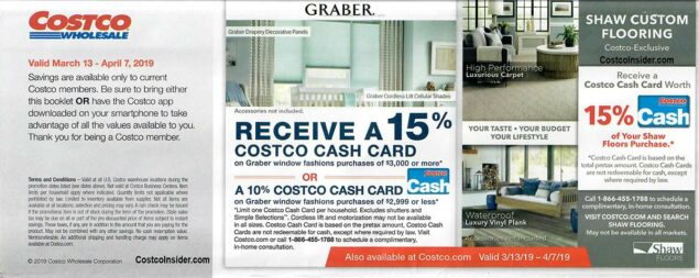 Costco March 2019 Coupon Book Page 1