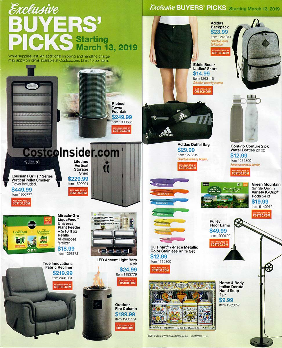 Costco March 2019 Coupon Book Pages 2 and 3