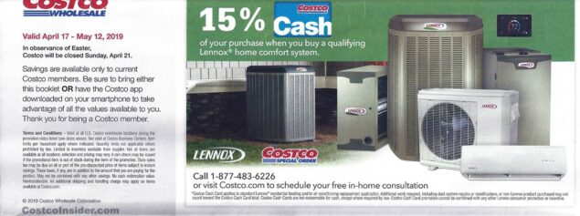 April 2019 Costco Coupon Book Page 1