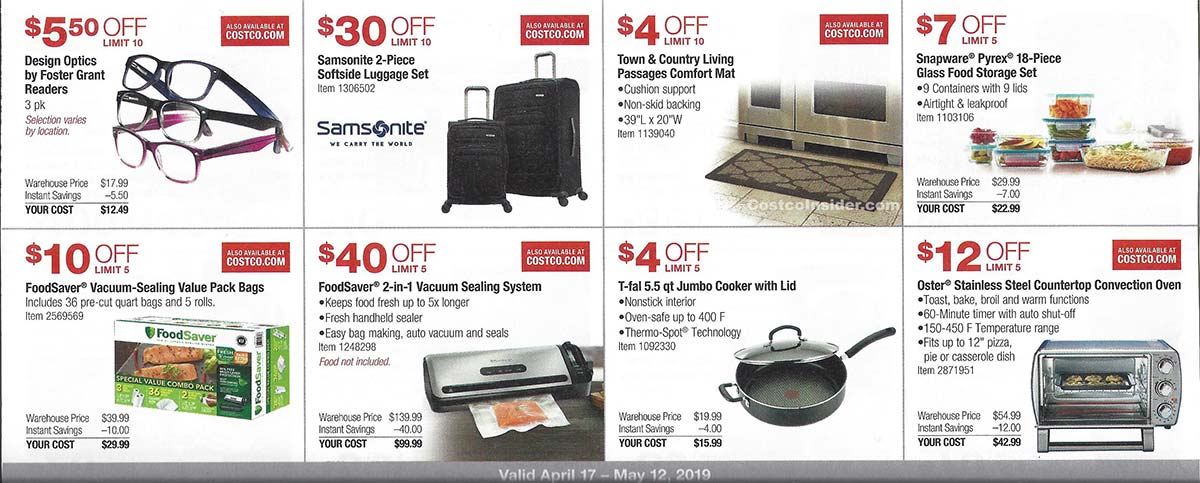 April 2019 Costco Coupon Book Page 10