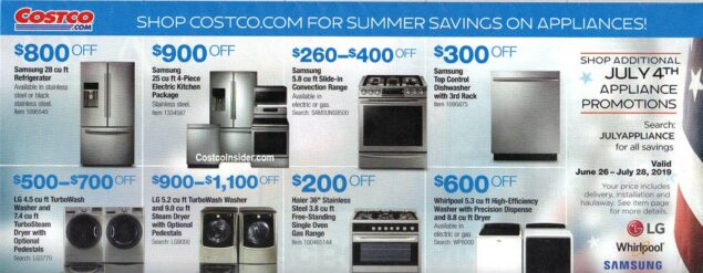 Costco July 2019 Coupon Book Page 2
