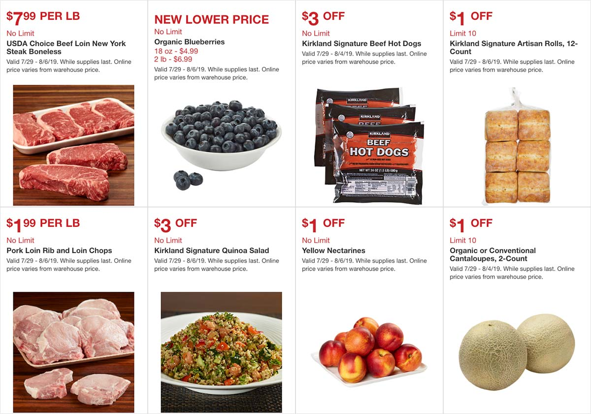 Costco August 2019 Hot Buys Page 1