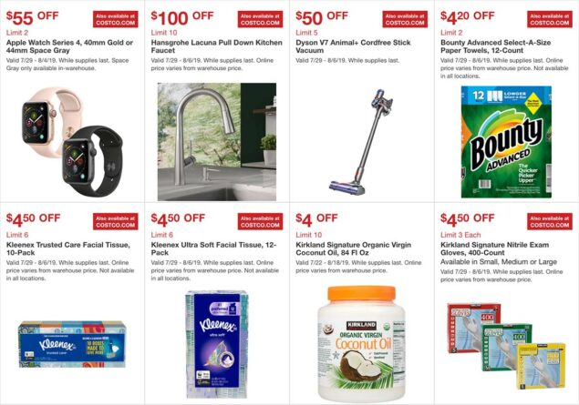 Costco August 2019 Hot Buys Page 2