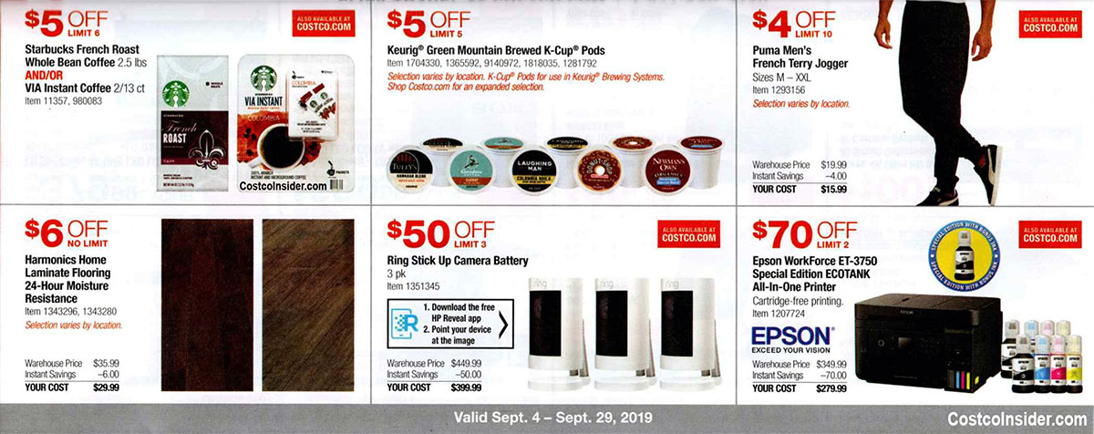 Costco September 2019 Coupon Book Page 10
