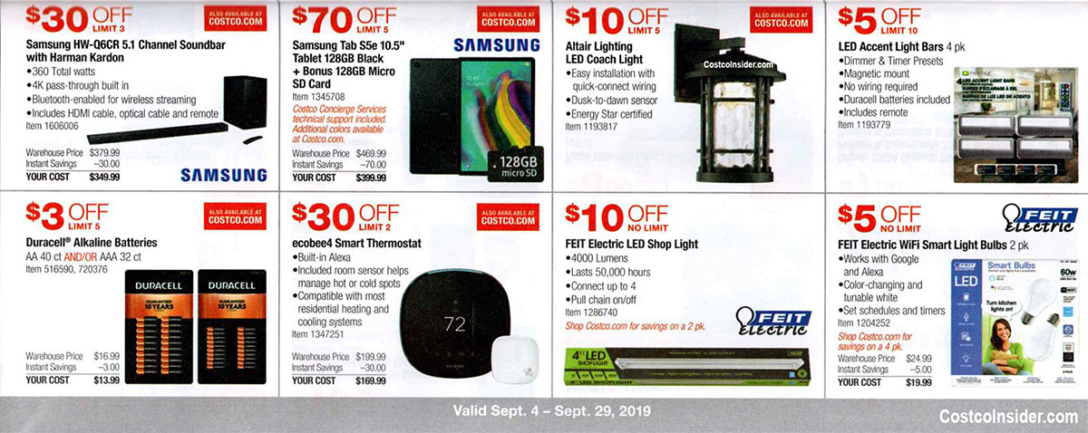Costco September 2019 Coupon Book Page 12