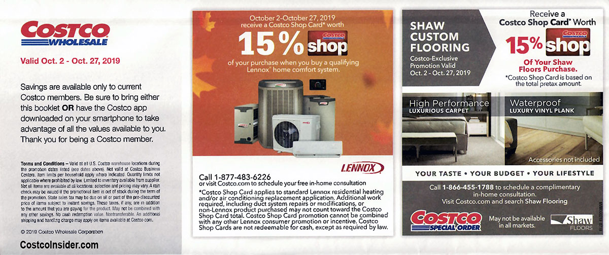 Costco October 2019 Coupon Book Page 1