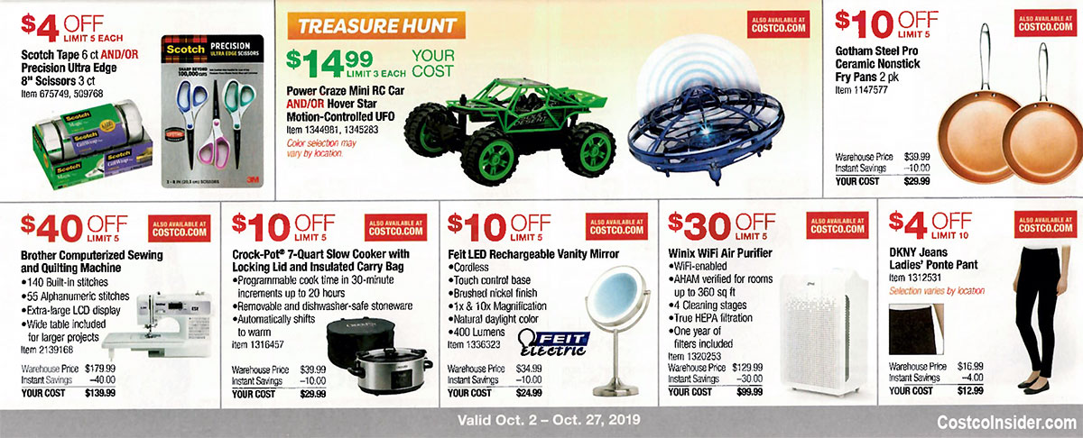 Costco October 2019 Coupon Book Page 10