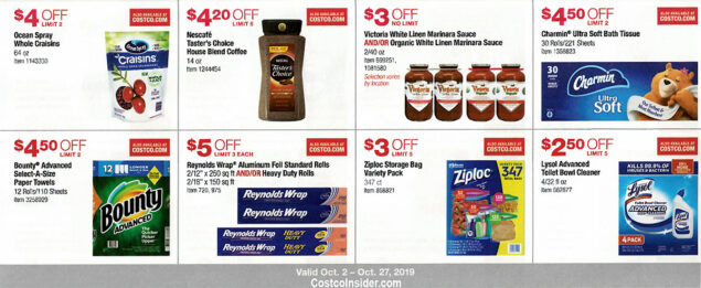 Costco October 2019 Coupon Book Page 14