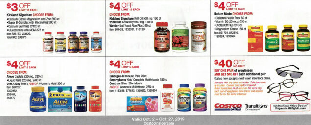 Costco October 2019 Coupon Book Page 20