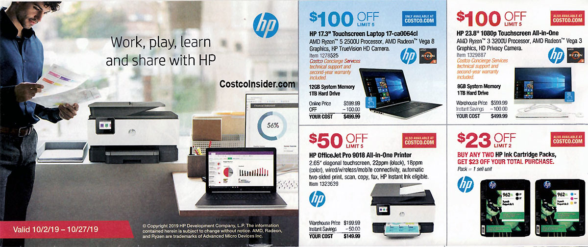 Costco October 2019 Coupon Book Page 3