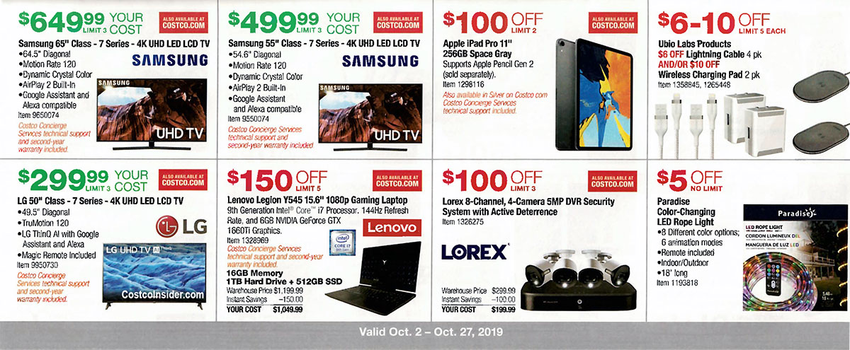 Costco October 2019 Coupon Book Page 8