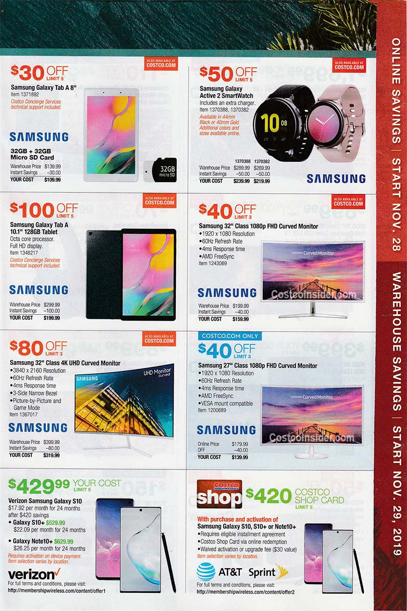 Costco Black Friday Ad 2019 Page 14