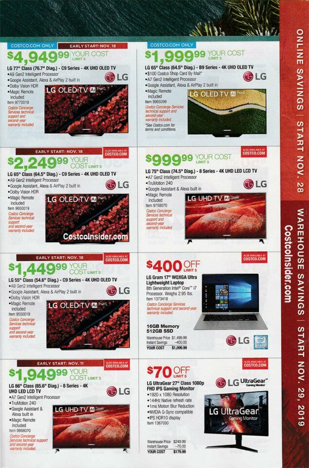Costco Black Friday Ad 2019 Page 16
