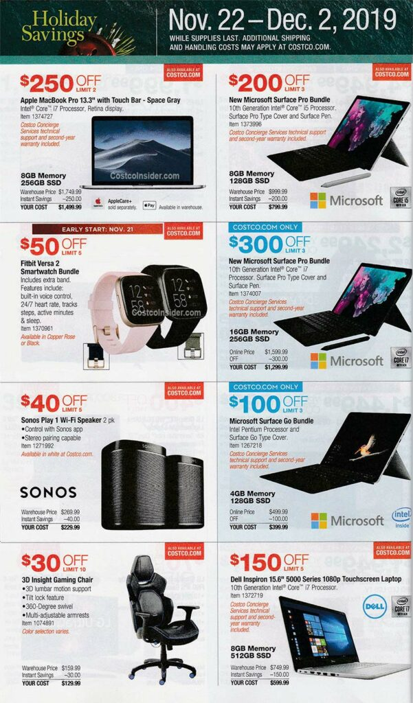 Costco Black Friday Ad 2019 Page 17