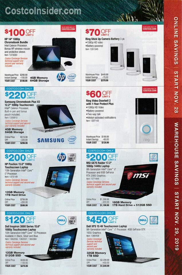 Costco Black Friday Ad 2019 Page 18