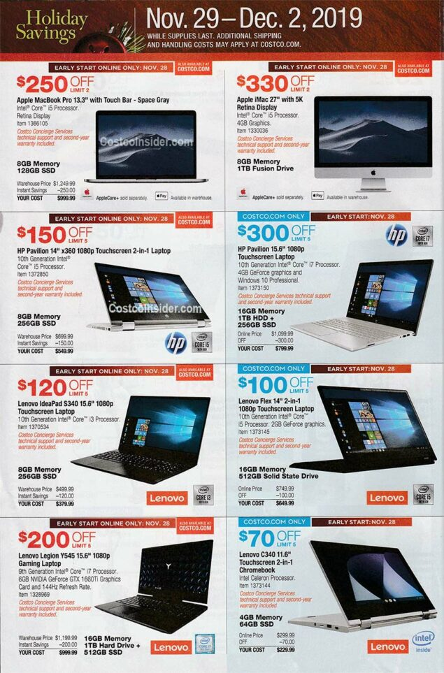 Costco Black Friday Ad 2019 Page 25
