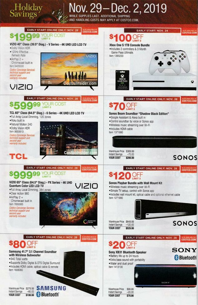 Costco Black Friday Ad 2019 Page 27