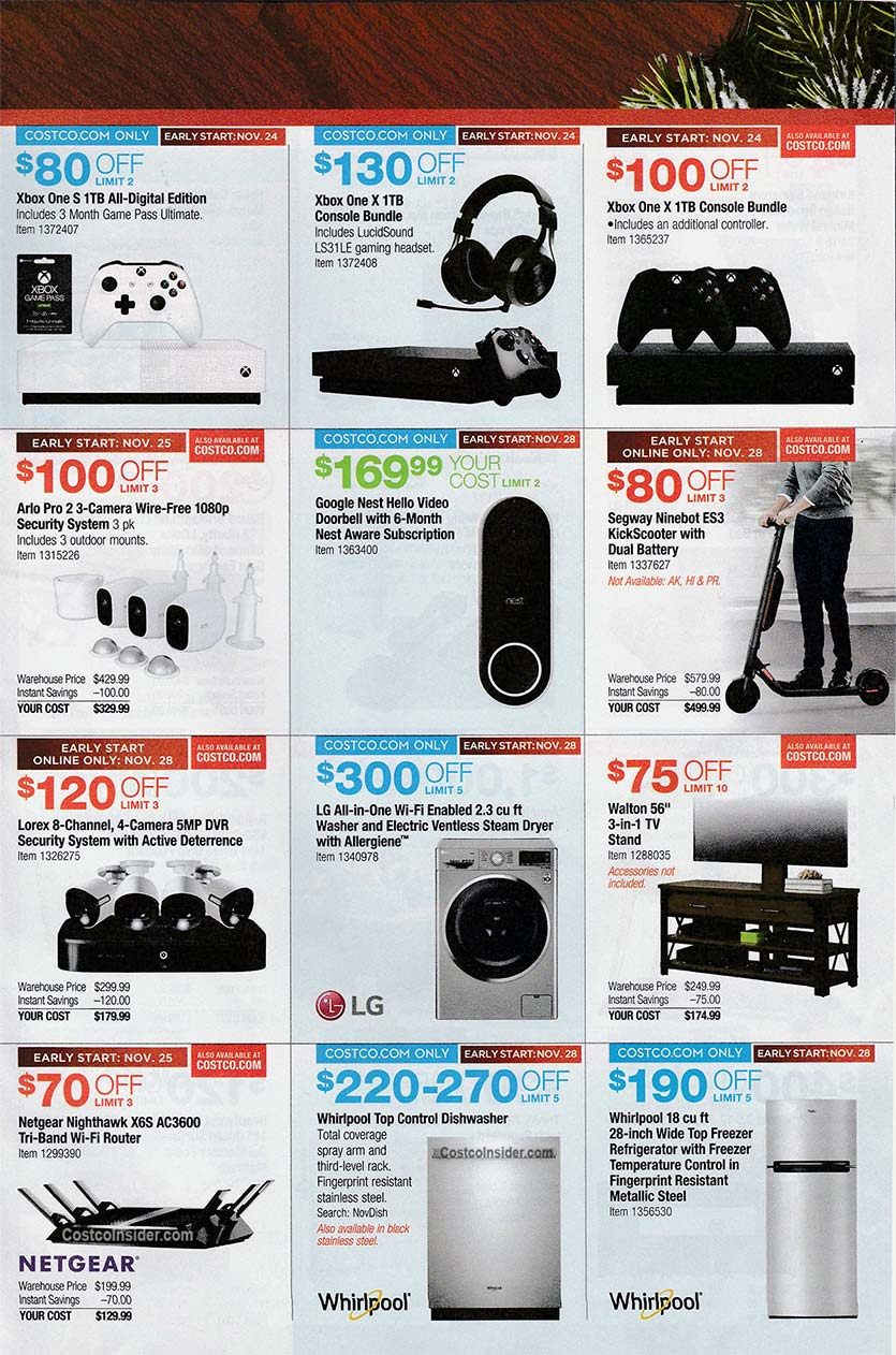 Costco Black Friday Ad 2019 Page 28