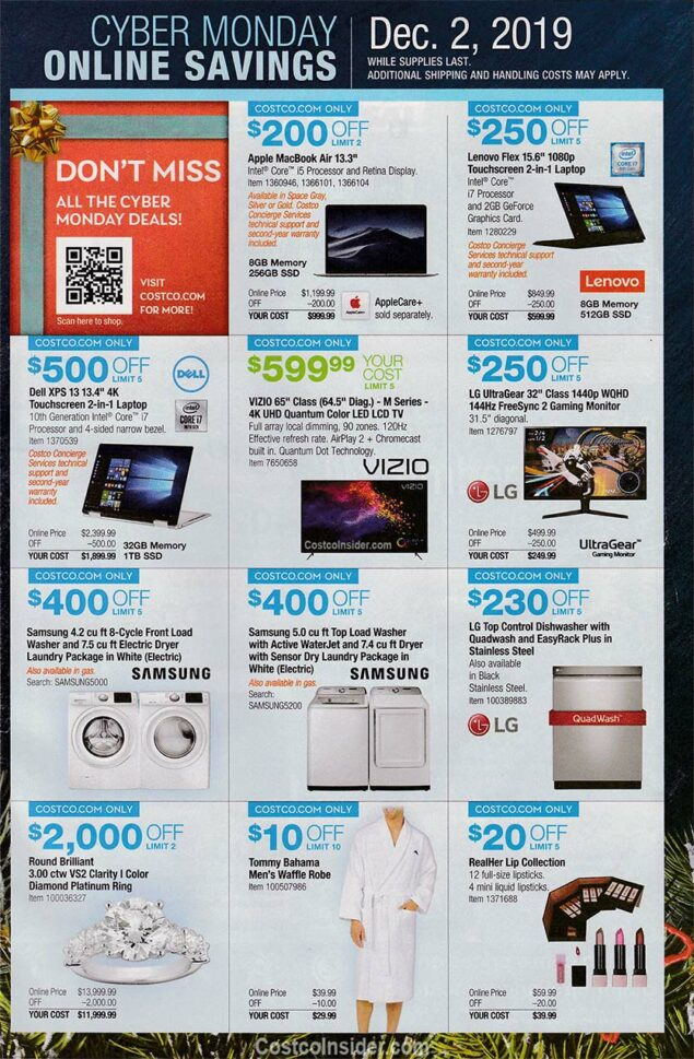 Costco Black Friday Ad 2019 Page 30